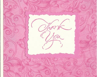 Pretty Pink Thank You Note - Set of TEN