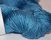 Studio June Yarn, Silky Twist, Superwash Merino & Silk ,Worsted Weight, Color: It's a Good Blue