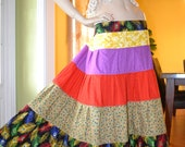 Sale Peacock Feather Gypsy Hippie Patchwork Skirt  PC 2