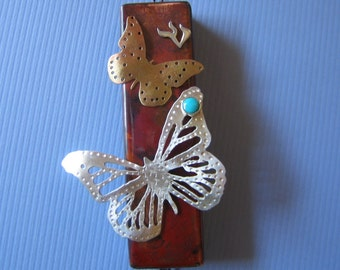 Butterflies are Free Mezuzah