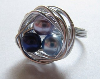 Robin's Nest Ring 3 Colors
