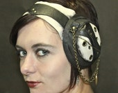 Steampunk, headband, hat, leather head band: Burbon Betty Collection by Renegade Icon Designs