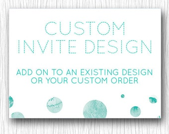Custom Wedding Invitations - Printable Wedding Stationary 5x7