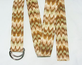 D Ring Belt, shimmery ikat, M/L