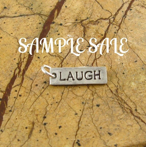 Silver Laugh Pendant Christmas In July Sale Handstamped Silver Charm