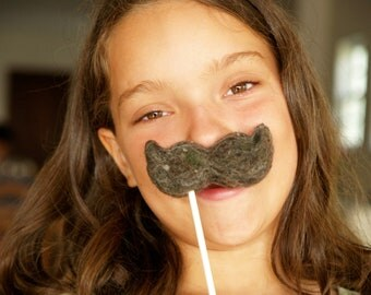 Halloween Costume, Wool Moustache, For Kids and Adults for a Fun Halloween Dress Up Accessory, Needle Felted Wool