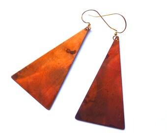 Isosceles triangle earrings