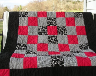 Custom Memory Quilt -- Lap Size Quilt Made with Upcycled Clothing