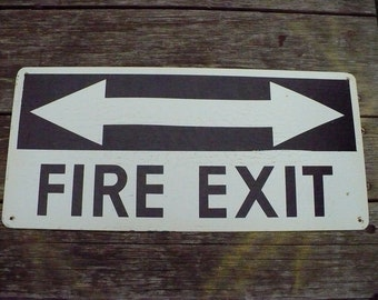 Fire Exit Sign - Dual Exit - One Sided