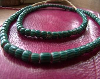 Vibrant Green Watermelon Trade Beads