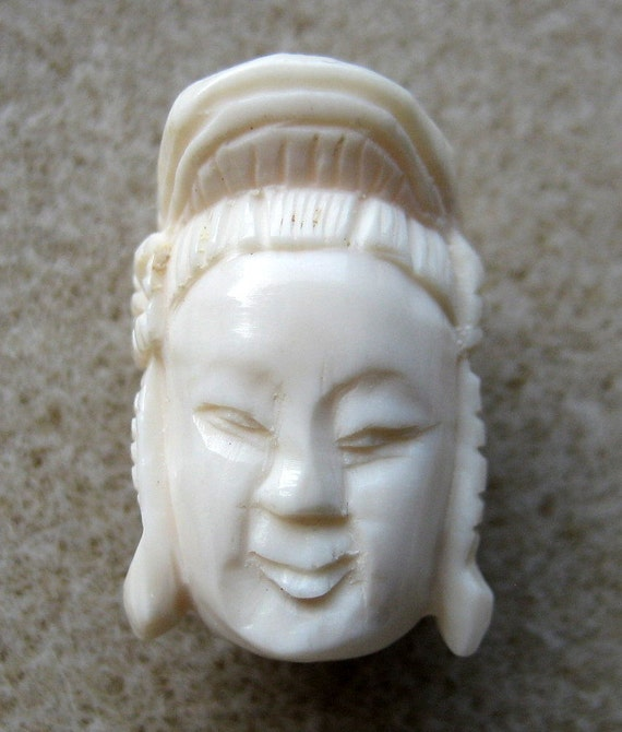 Genuine Hand Carved ivory empress Bead/Pedant