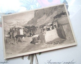 Upper Egypt  Vintage Postcard * Egypt Village *Raphael Tuck & Sons