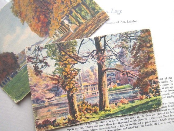 Two Vintage YVON French postcards