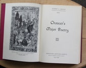 Chaucer's Major Poetry  1963 Vintage Book by