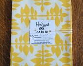 "Hemp and Organic Cotton Block Printed Fabric- 20"" x 17"""