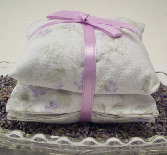 Lavender Sachets - Delicate Shabby Floral - Home and Living