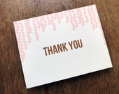Printable Thank You Card - Thank You Card PDF - Instant Download Thank You Note - Pink and Brown Thank You Card - Thank You Note Template