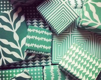 Printable Christmas Paper - Green Patterns Digital Paper - Digital Paper - Digital Papers - Printable Wrapping Paper - Scrapbooking Paper
