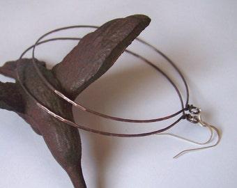 Hoop Earrings - XXXLarge 3 inch Hoop Earrings - Hammered Hoops - Available in Brass - Copper - German Silver - and Bronze - Made to Order