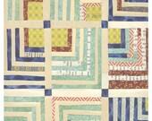 Old Stripes Quilt  print - Geometric Chevron Cut Paper Artwork