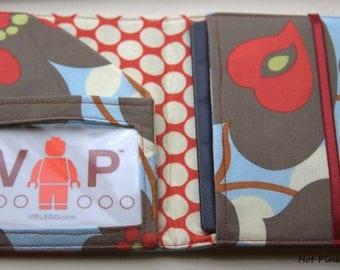 Handmade Passport Wallet With ID Pocket -Morning Glory-
