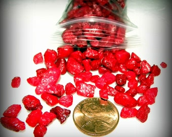 Red Miniature Polished Pebbles for terrariums-Vivariums-Weddings-Craft Projects and More 2x3 bag