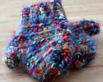 Multicolored Toddler 12-18 month Crochet Handmade Mittens