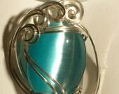 Pendant  - Majestic Blue Fiber Optic Pendant/Necklace