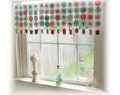 Reserved for JUNE Blooms SEW Pretty Sewing Room Paper Flower  Window Treatment  Valance