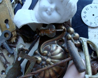 Antique Salvaged Assemblage Hardware Lot N0 36