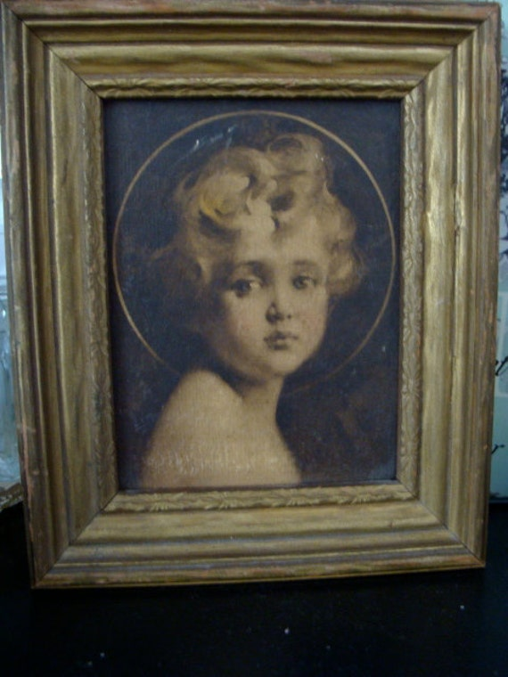 Antique Framed Textured Canvas by the Great C. Bossernon Chambers