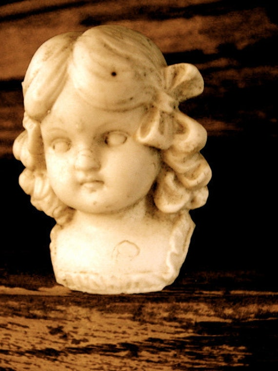 Antique Doll Gorgeous  German Bisque highly detailed shoulder doll head