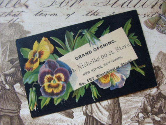 Gorgeous Victorian advertisement Trading Card for Merchandise Goods