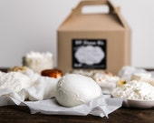 Deluxe DIY Cheese Kit, Make Mozzarella, Ricotta, Crumbly Goat Cheese, Creamy Chevre, Paneer, Queso Blanco- 30 batches