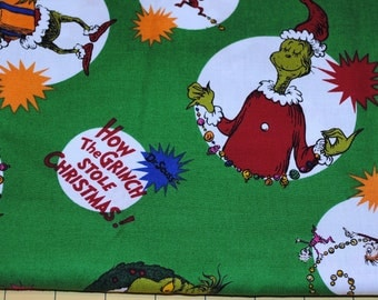 Fat Quarter Christmas How The Grinch Stole Christmas Fabric