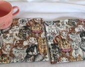 Kitty Cat Mug Rugs, Snack Mats, or Coasters  - Set of 2 - Quilted