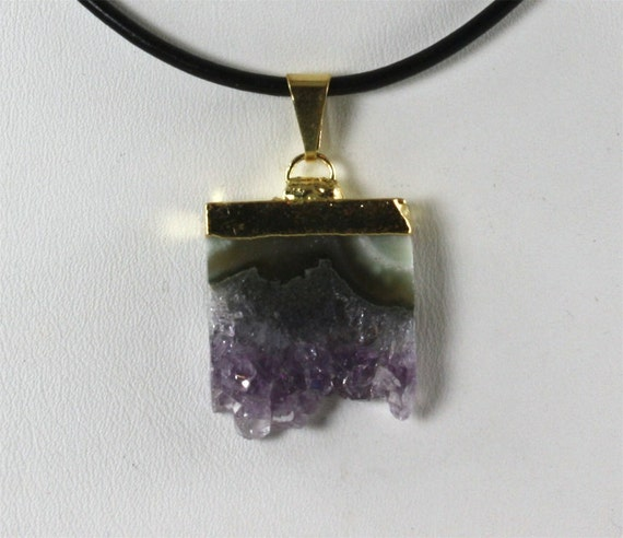 Amethyst Pendant, Crystal Necklace Gold, 30