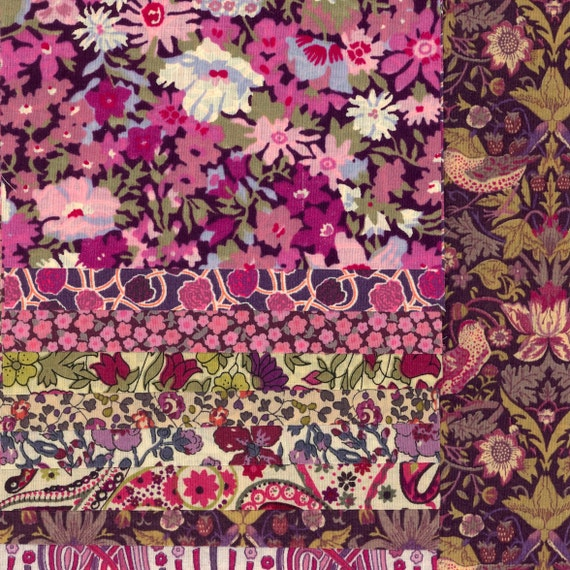 Liberty Purple Patchwork Pillow kit - all you need to make a gorgeous pillow/cushion