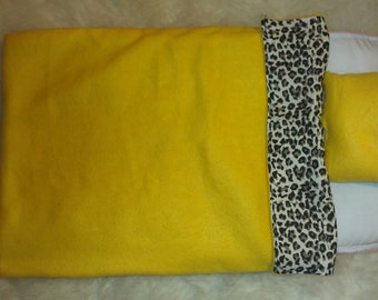 18inch Doll Yellow and Cheetah Bedding (Reversible)