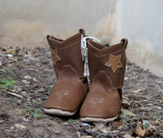 Reserved Distressed Brown Cowboy Boot