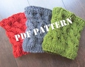 PATTERN - Cabled Boot Cuffs and Legwarmers - Knitted - DIY