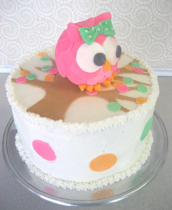 Items similar to Owl Cake Topper INSTA-CAKE Cake Kit ...