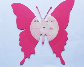 BUTTERFLY silhouette made from vinyl record album  Monsters and Men