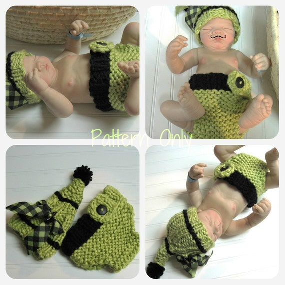 Little Green Pixie Baby Boutique Hat and Diaper Cover Patterns