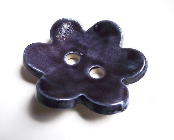4 Button Flowers in Blue - Gres Buttons