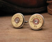 Shotgun Casing Jewelry - Bullet Jewelry - 20 Gauge Shotgun Shell Cuff Links - Great for the Gun Enthusiast, Groomsmen Gifts, Country Wedding