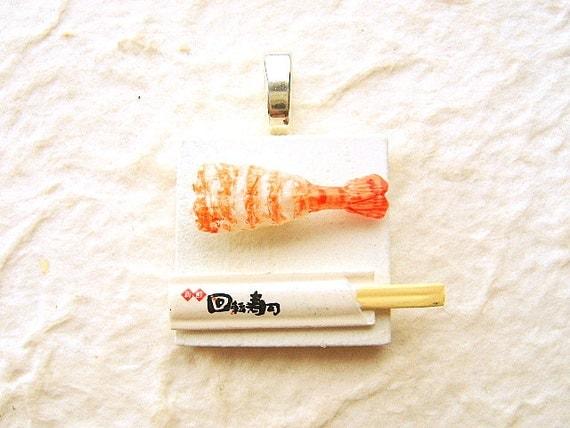 Sushi Pendant Miniature Food Jewelry Japanese Food