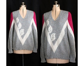 Vintage 70s Abstract Expression in the Garden Sweater