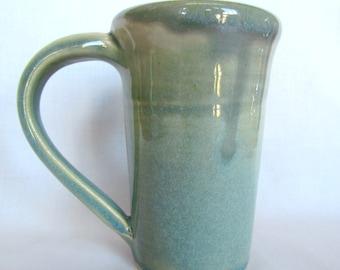 Coffee Tea Mug Cup Seafoam Green Pottery
