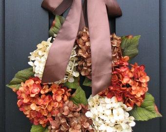 Wreaths, Fall Wreaths, Year Round Wreaths, Fall Decor, Front Door Wreaths, Orange Pumpkin, Spiced Apple Cider